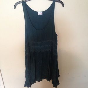 Intaminely Free People Slip Dress With Lace Size M